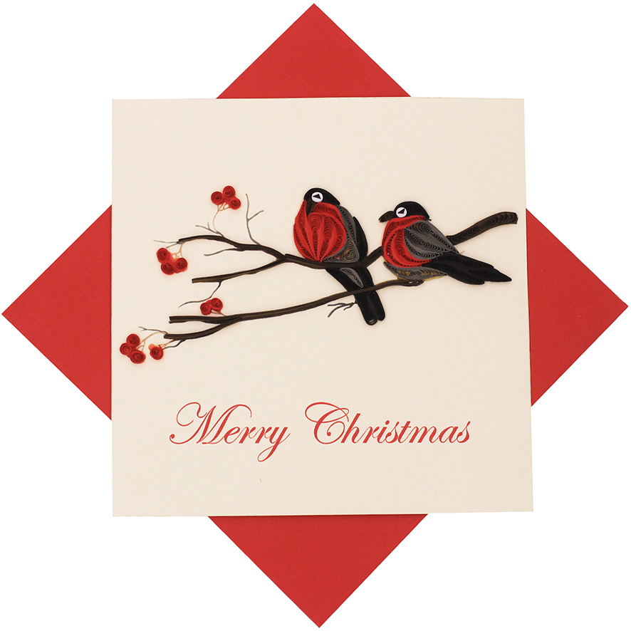 Quilled Holiday Bird Card