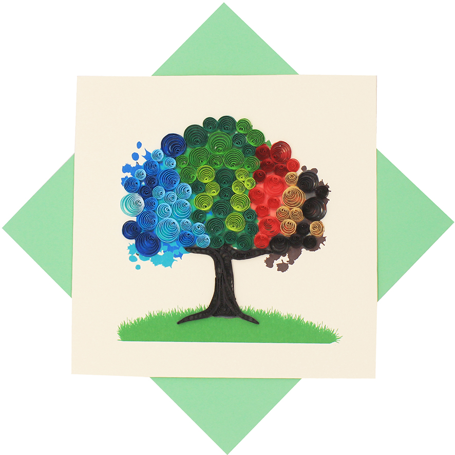 Quilled Four Seasons Tree Card