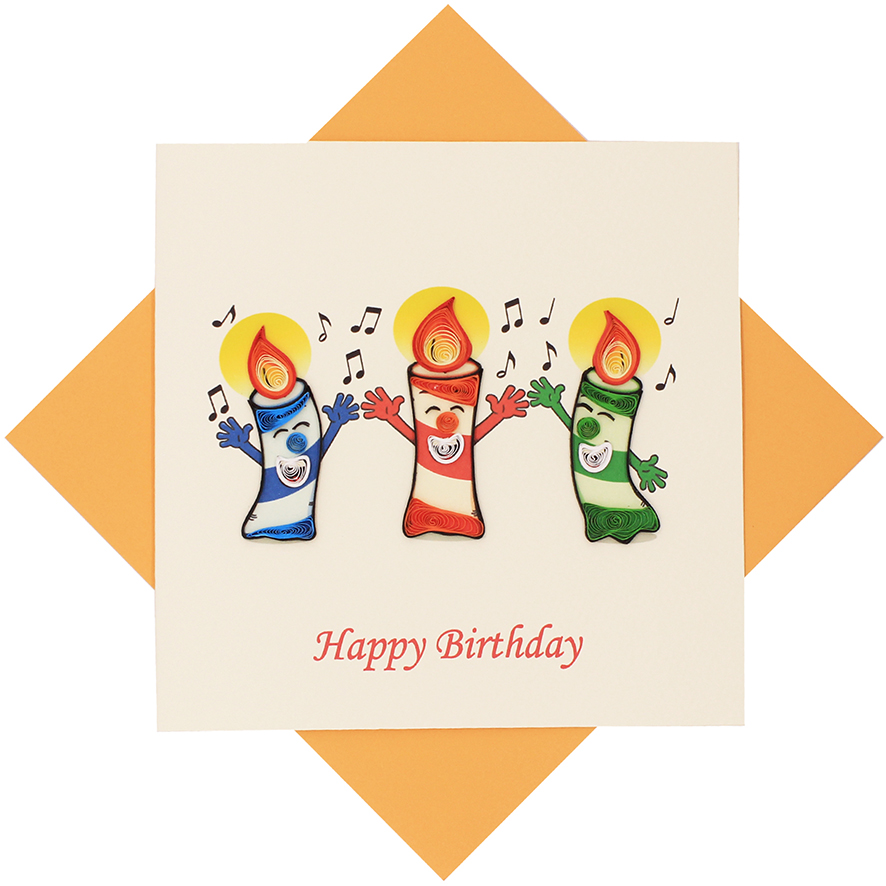 Quilled Candles Birthday Card