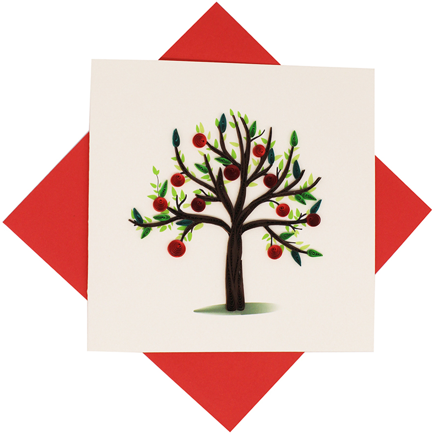 Quilled Apple Tree Card