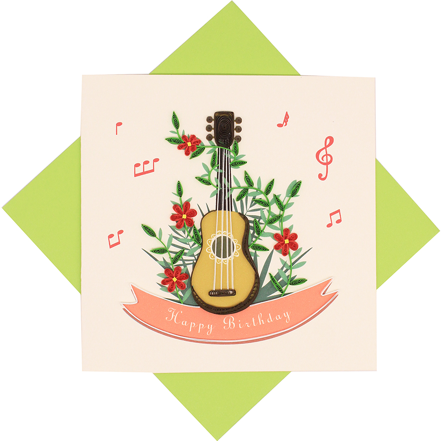 Quilled Birthday Guitar Card