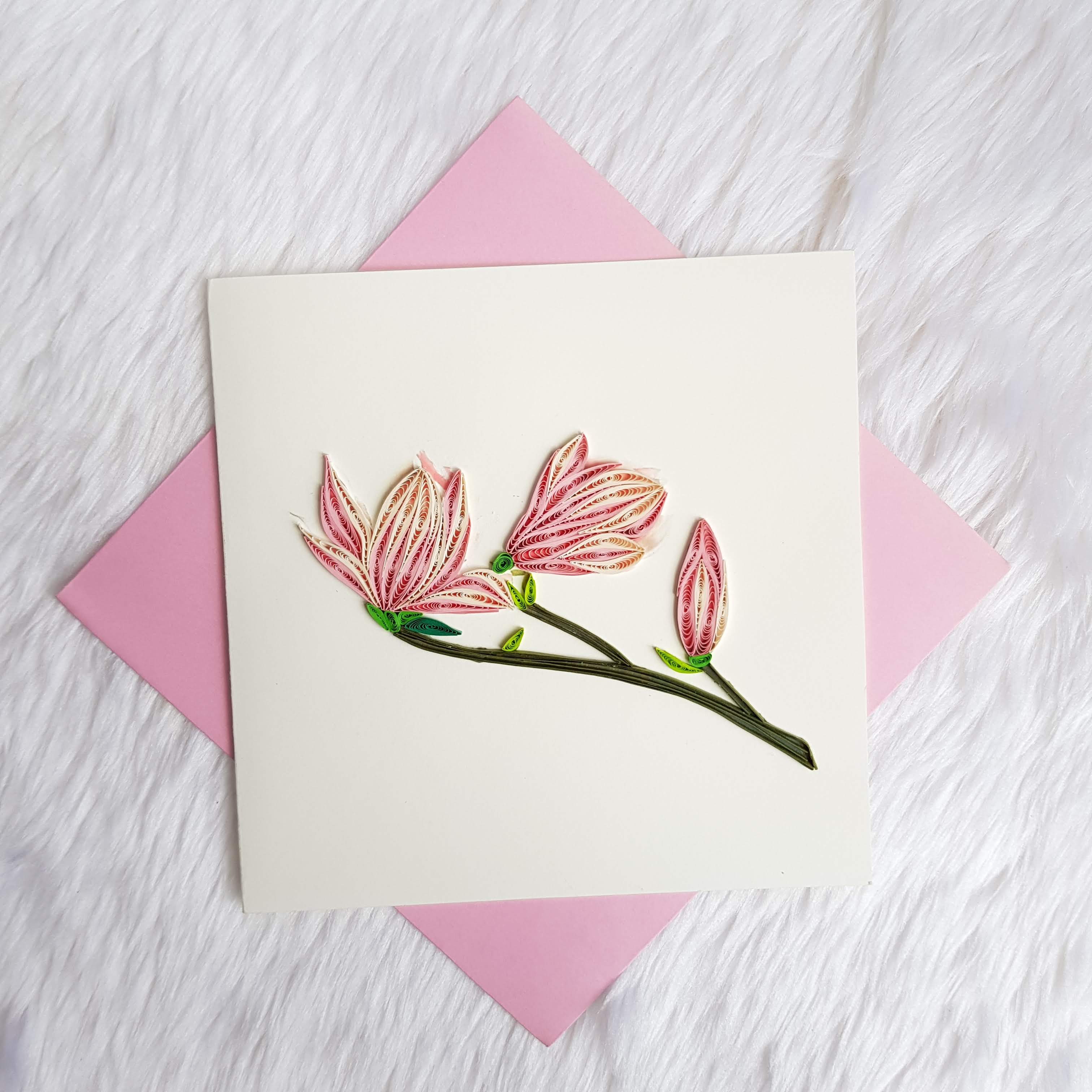 Quilling Flower Card 08