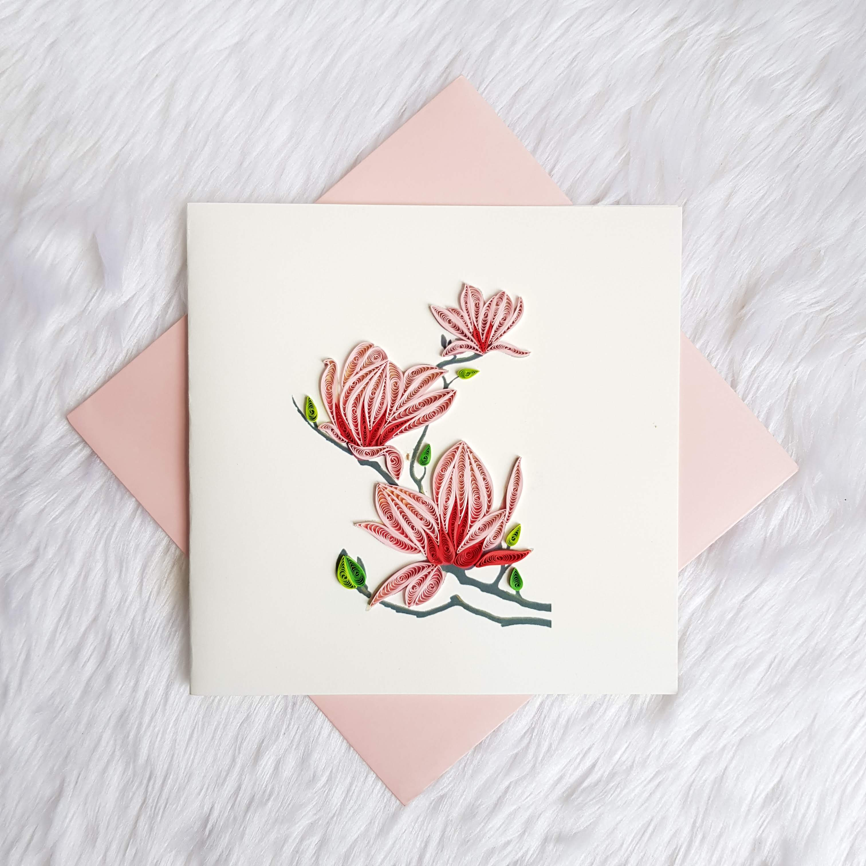 Quilling Flower Card 02