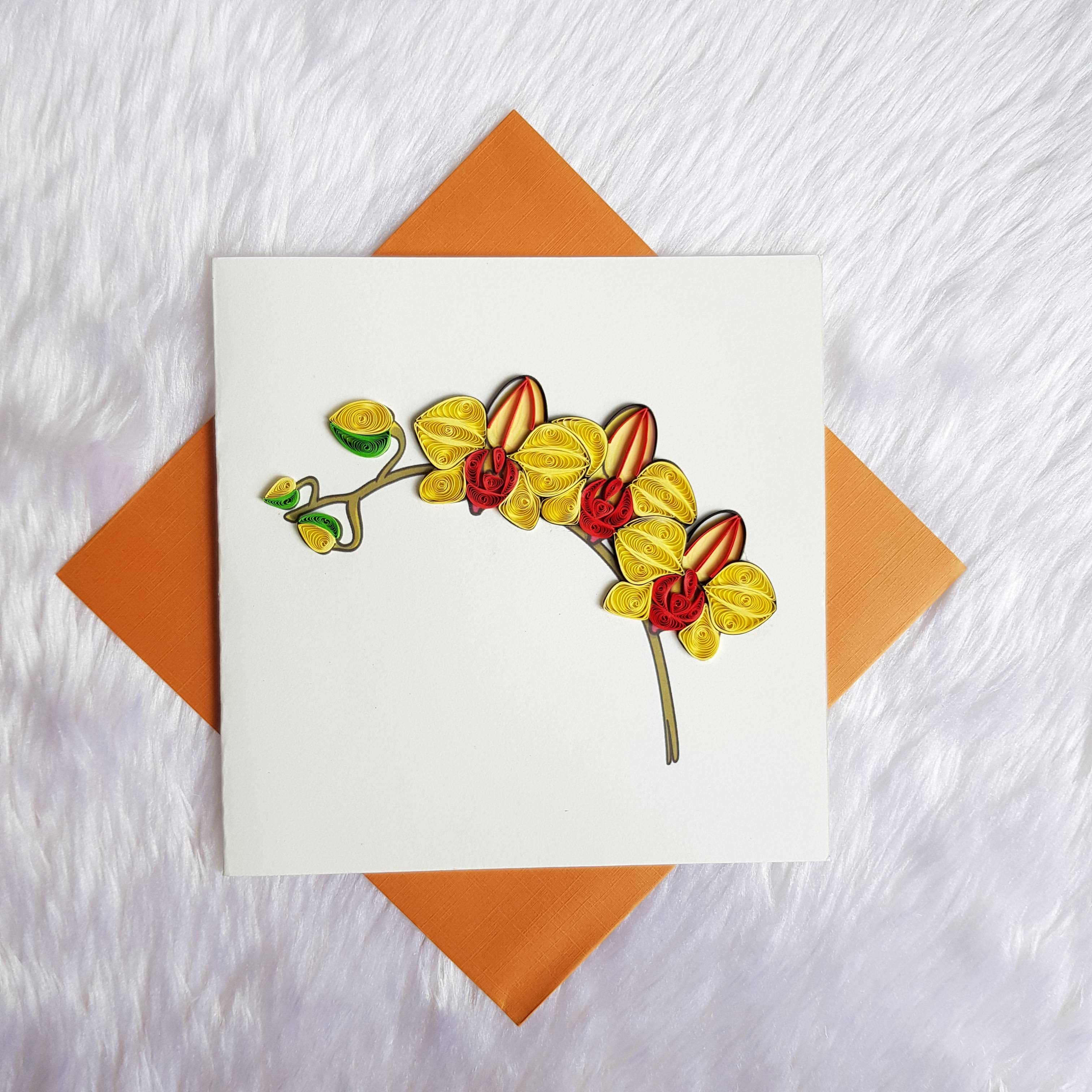 Quilling Flower Card 07
