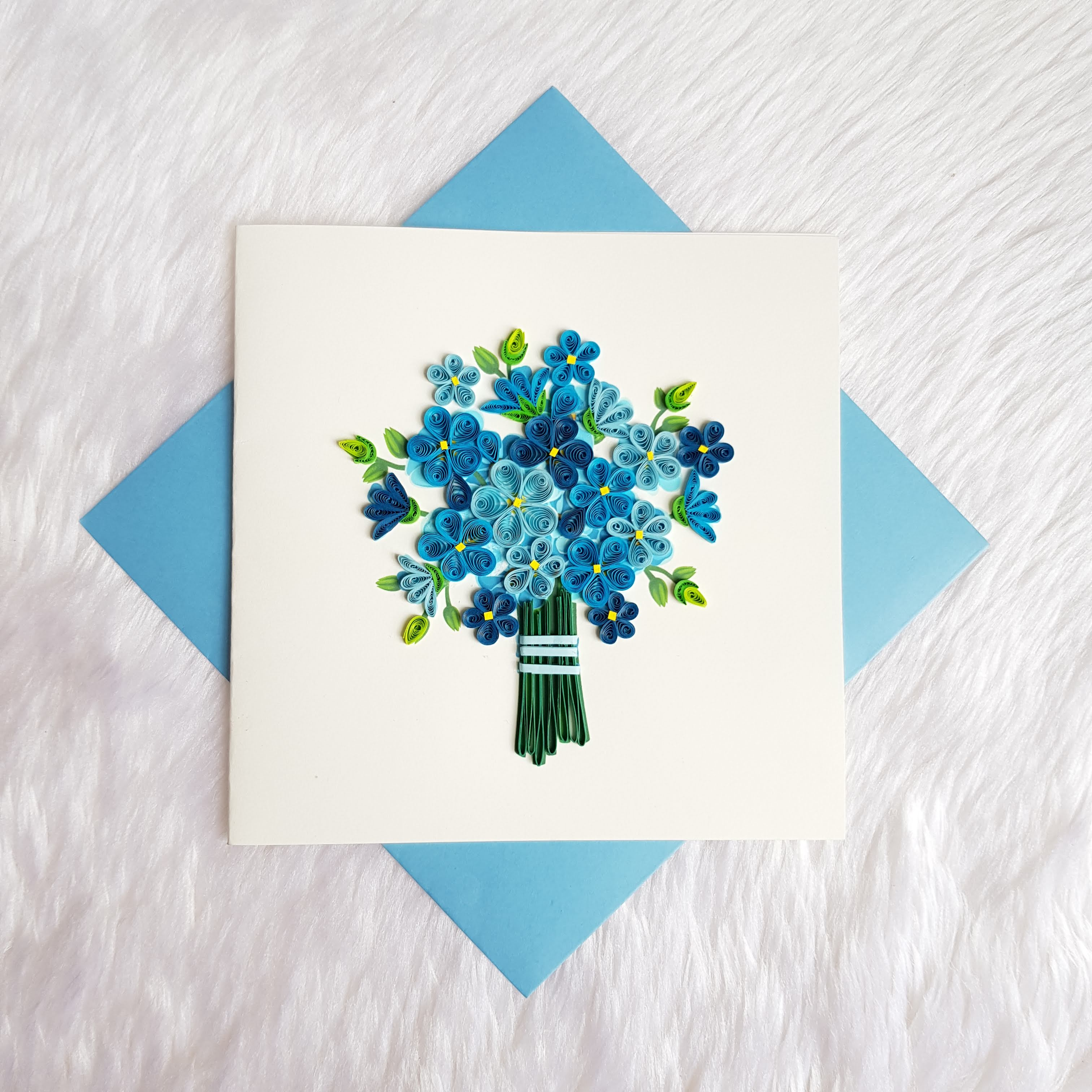 Quilling Flower Card 04