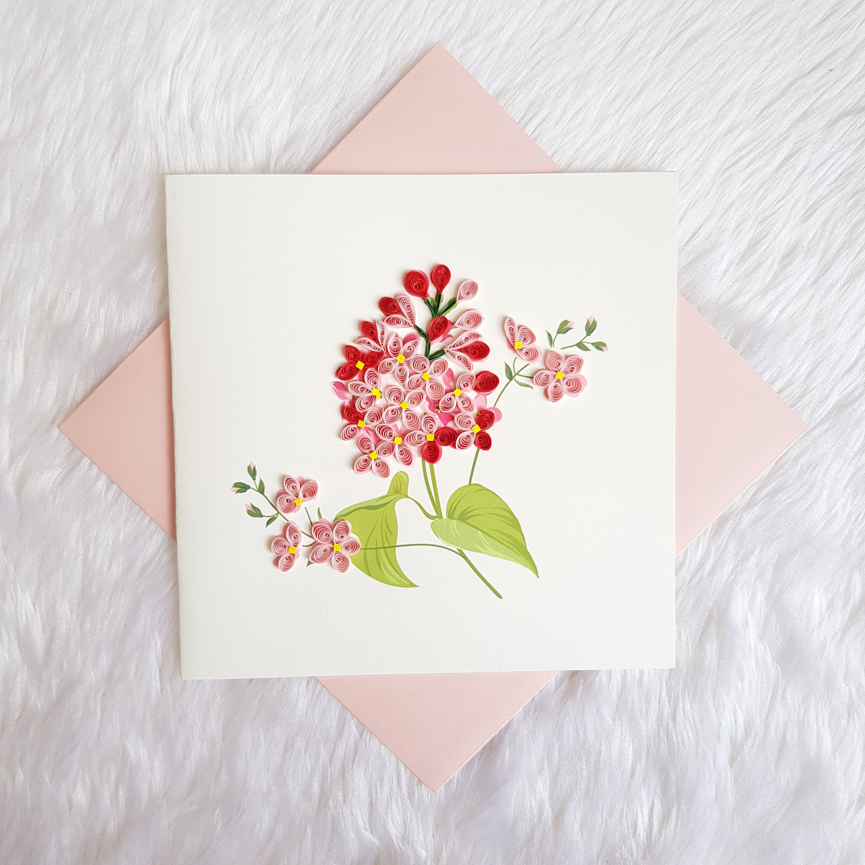 Quilling Flower Card 03