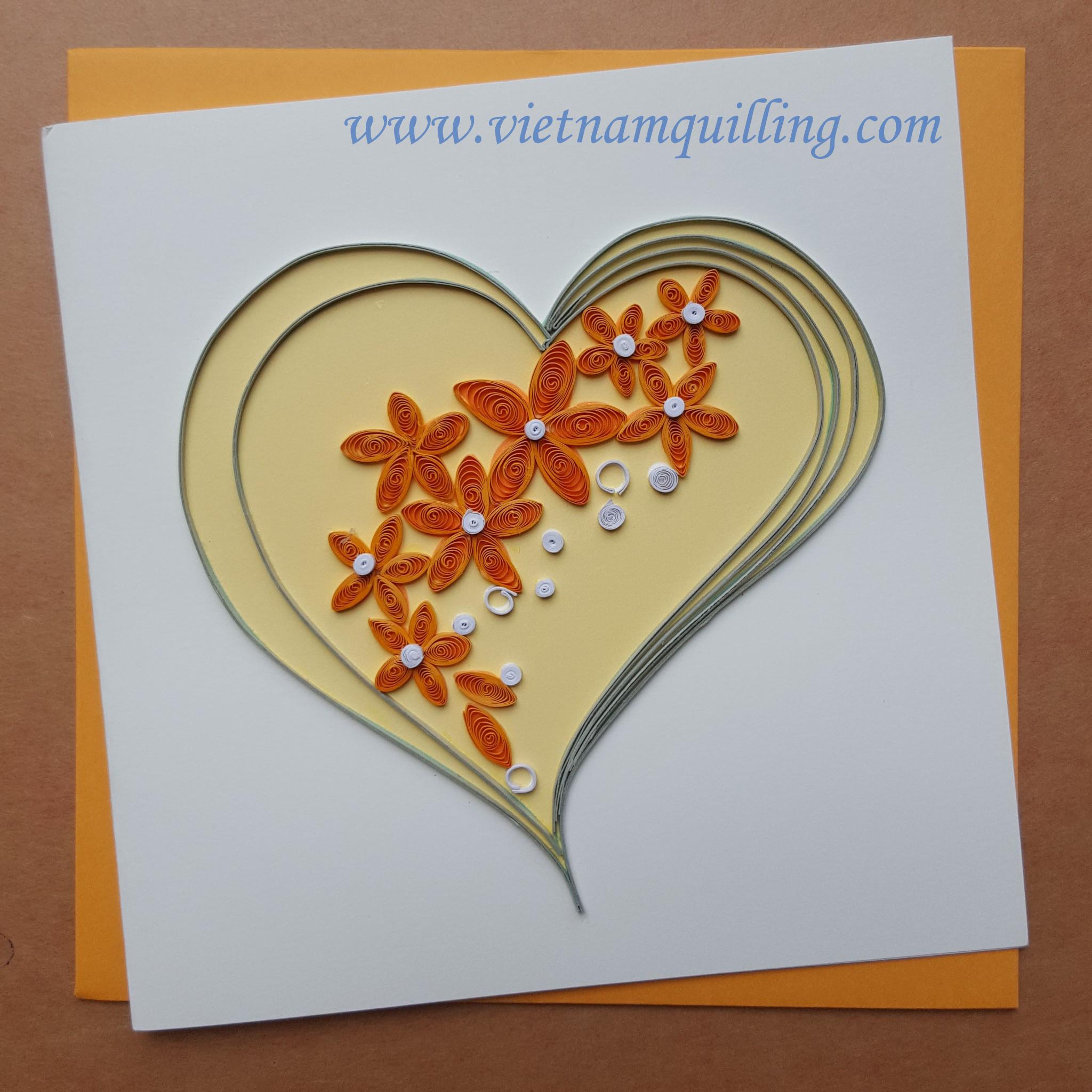 Квиллинг открытки к свадьбе 14